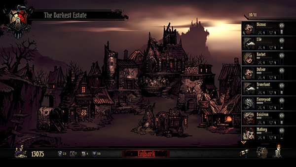 <em>Darkest Dungeon</em> Review Screenshot